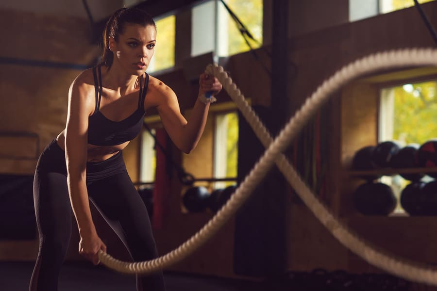 Battle Ropes - Cardio and Shoulder Pain all in one package
