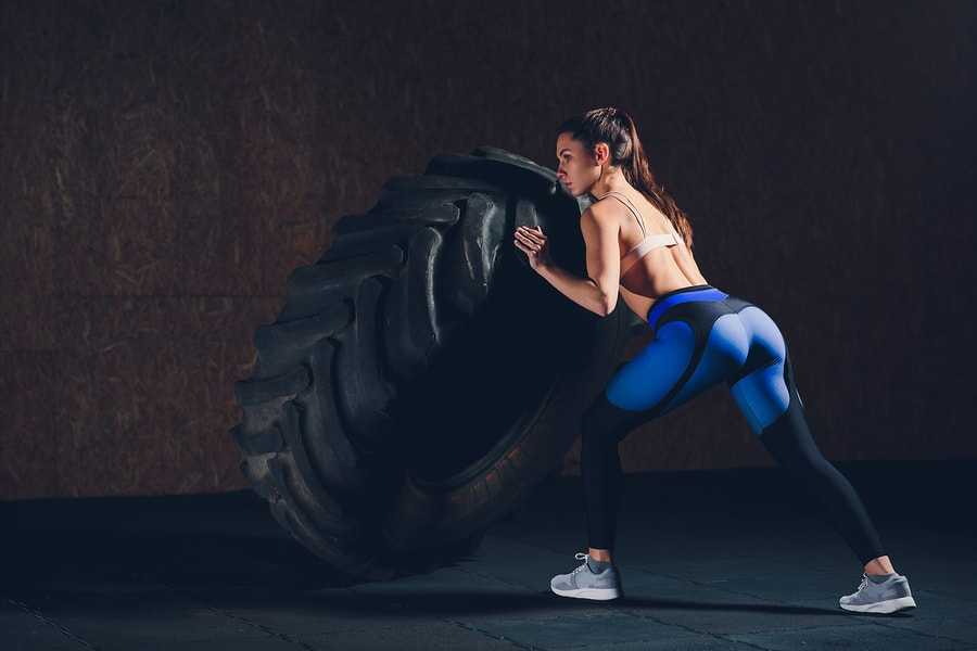 Tire Flipping builds strength and endurance