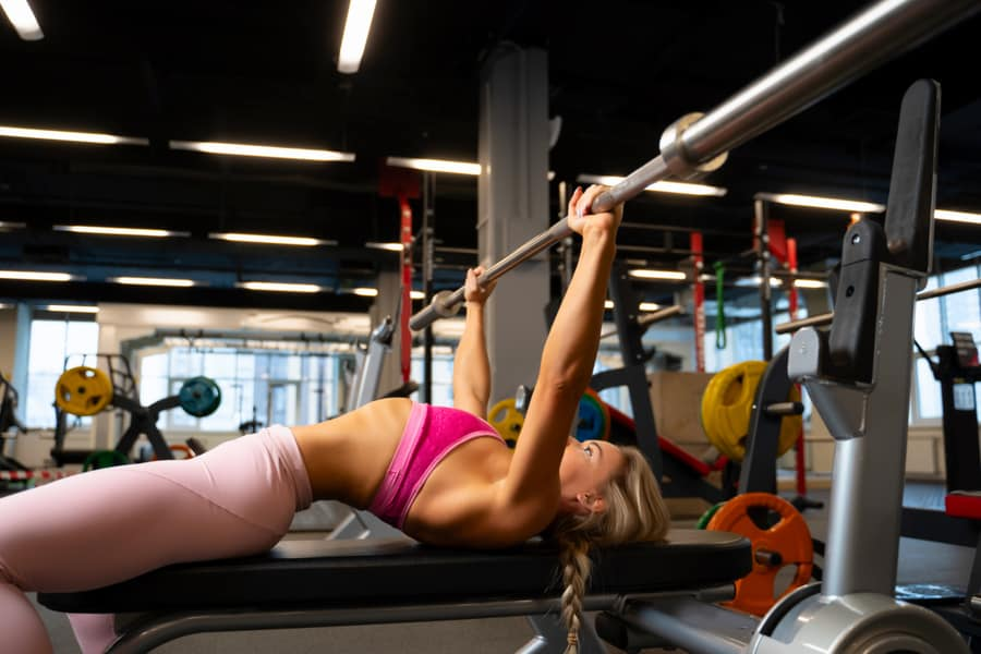 Use a back arch when bench pressing for the best results.