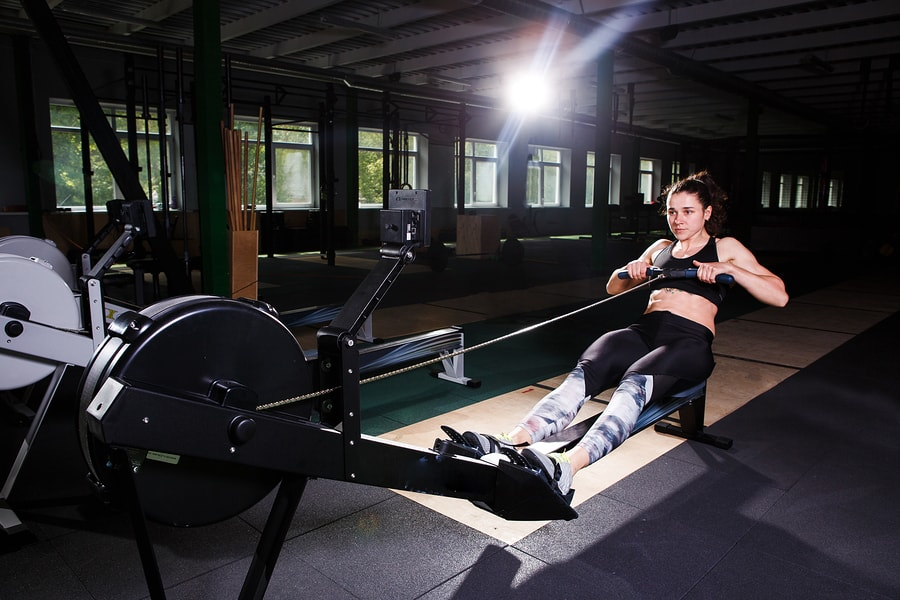 Rower at extension