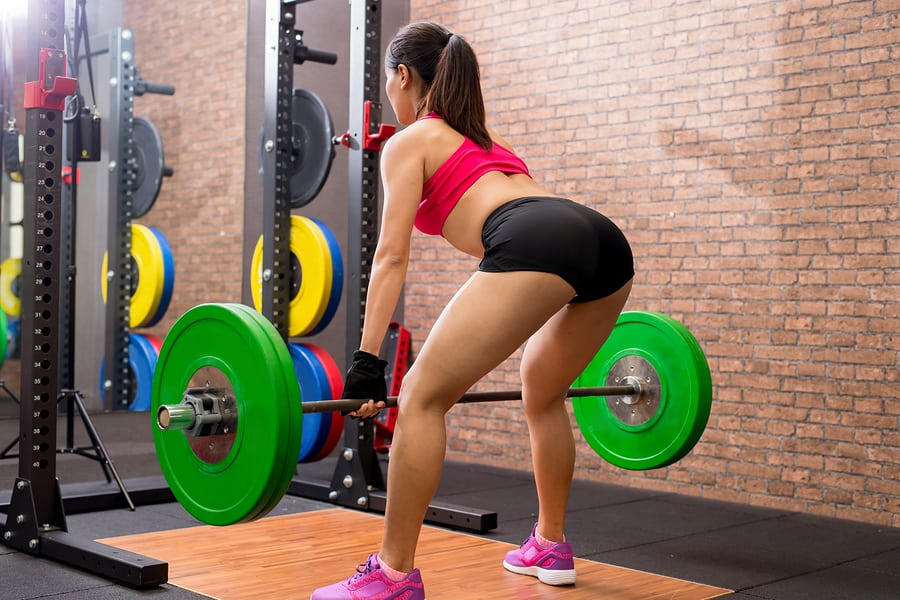 deadlift with a barbell