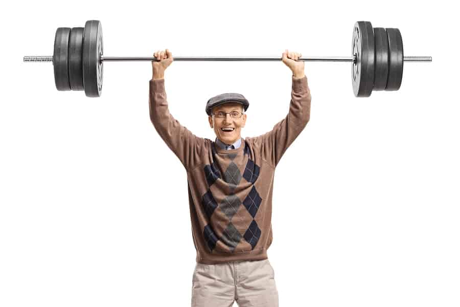 Older weight lifter