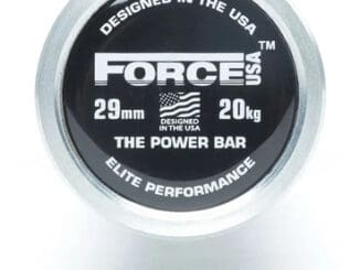 Force USA Powerlifting Barbell end 3
