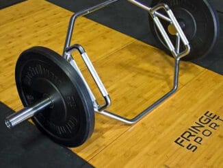 FringeSport Hex Bar with weighats